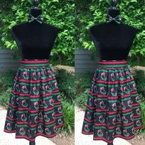 Custom skirt designed by Jatcie Williams.