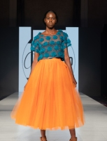 New York fashion week, designs by Jatcie Williams.